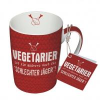 Porzellan-Tasse - Vegetarier