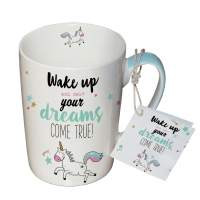 Porzellan-Tasse - Wake Up