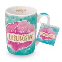 Porzellan-Tasse - Lieblingstag