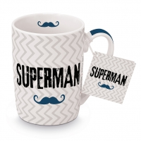 Porzellan-Tasse - Supermann