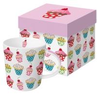 Porzellan-Henkelbecher - Sweet Cupcakes