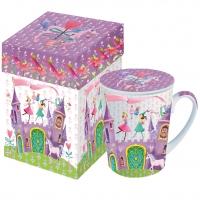 Tasse mit Deckel - mit Deckel GB Prinzessin Schloss