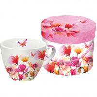 Porzellan-Tasse - Aquarell Mohnblumen
