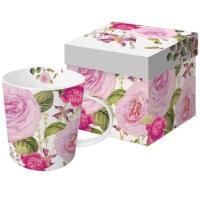 Porzellan-Henkelbecher - Princess Rose