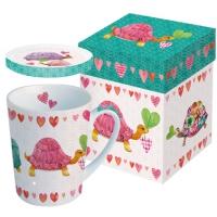 Tasse mit Deckel - mit Deckel GB Schildkröten in Liebe