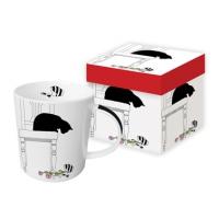 Porzellan-Henkelbecher - Black Cat