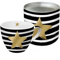 +*)Porzellan-Tasse Star & Stripes