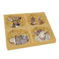 Porzellan Platten-Set - Woodsy & Wise Plate Set of 4