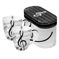 Porzellan-Henkelbecher - I Love Music