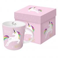 Porzellan-Henkelbecher - Pink Unicorn
