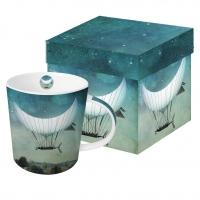 Porzellan-Henkelbecher Moonship