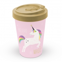 Bamboo mug To-Go - Pink Unicorn