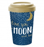 *)Becher aus Bambus Moon Love