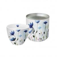 Porzellan-Tasse - Aquarell Cornflower