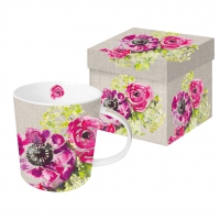 Porzellan-Henkelbecher - Pink Blossoms