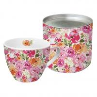 Porzellan-Tasse - Rose Floral