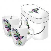 Porzellan-Henkelbecher - Corfu Hummingbird