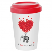 Bamboo mug To-Go - Love carries all