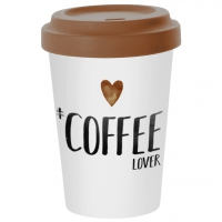 *)Becher aus Bambus Coffee Lover