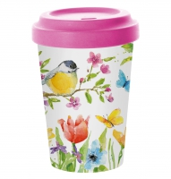 Bamboo mug To-Go - Spring Bird