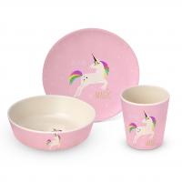 Bambus Kinder Set - Pink Unicorn