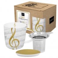 Tee-Tassen - Strainer cardboard I Love Music real gol