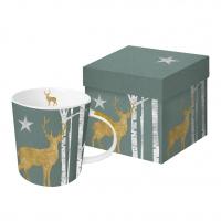 Porzellan-Henkelbecher - Mystic Deer