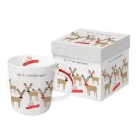 Porzellan-Henkelbecher - Oh, schon wieder Weihnachten!