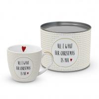 Porzellan-Tasse - Lust auf Weihnachten