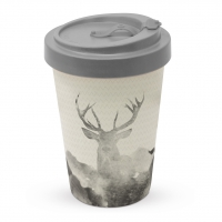 Bamboo mug To-Go -  Deer Watercolour