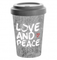 Bamboo mug To-Go - Love and Peace