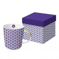 Porzellan-Henkelbecher - Ginza violet real gold
