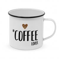 Metallbecher - Glückliche Metallkaffeeliebhaberin