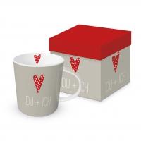 Porzellan-Henkelbecher - Du & Ich
