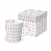 Porzellan-Henkelbecher - Minimal Flowers rosé