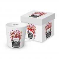 Porzellan-Henkelbecher - Ich liebe Dich