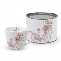 Porzellan-Tasse - Glückliches Fahrrad