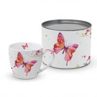 Porzellan-Tasse - Hübscher Schmetterling