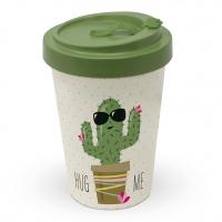 Bamboo mug To-Go - Hug Me Cactus