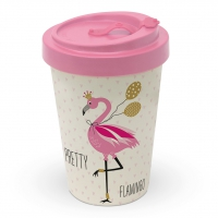 Bamboo mug To-Go - Pretty Flamingo