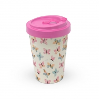 Bamboo mug To-Go - Pastel Butterflies