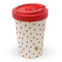 Bamboo mug To-Go - Little Hearts