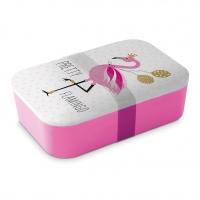 Bamboo Lunchbox - Pretty Flamingo