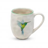 Porzellan-Henkelbecher - Organic Tropical Hummingbird