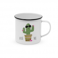 Metal Cup - Happy Metal Hug Me Cactus