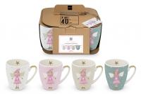 Porzellan-Henkelbecher - Mugs Lucy Set of 4