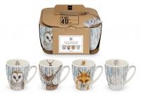 Porzellan-Henkelbecher - Mugs It´s Winter again Set of 4