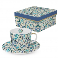Kaffee Tassen - Fiorentina azzurra real gold