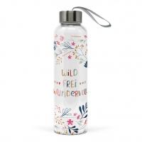Glasflasche - Wild, Frei, Wundervoll