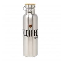 Edelstahl Trinkflasche - Bottle Coffee Lover